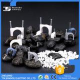Clip de cable de plástico de clip de clavos de caja de cristal con fijable