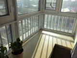 Подгонянное окно окна профиля UPVC сползая с стеклом Temepred двойным
