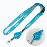Breakaway PVC Nome / ID Card Badge Reel Holder Custom Lanyard with Badge Holder (NLC005)