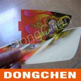 Projetar a etiqueta autoadesiva plástica transparente da impressão colorida
