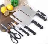 Profesional conjunto del cuchillo del acero inoxidable de 7 pedazos con el bloque de madera