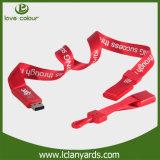 Os colhedores do festival para o USB conduzem a corrente chave da cinta da garganta