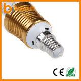 Ampoule de boîtier de l'éclairage DEL de bougie à la maison de la lampe 5W E14 E27 DEL