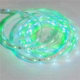 A cor ideal mágica RGB 2812IC SMD5050 Waterproof tiras flexíveis do diodo emissor de luz