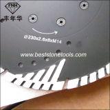 Lâmina de estaca da flange Tb3 Turbo do diamante com dentes protetores