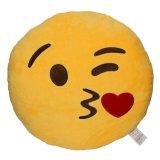 Jouet rond 5inch d'Emoji de peluche de palier de couleur jaune
