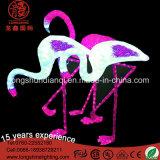 24V luz do flamingo do motivo do diodo emissor de luz 3D para a decoração