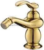 Escolhir o Faucet mágico de bronze do misturador da bacia da lâmpada Zf-M28 do ouro luxuoso do punho