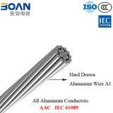 Muestras libres, IEC 61089, todos los conductores de aluminio, conductores de AAC