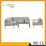 Conjunto de aluminio del sofá de la esquina del patio de los muebles al aire libre baratos modernos para cualquier estación del salón