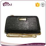 女性のための最新の黒い札入れ、長い鎖、方法女性の財布が付いている札入れ