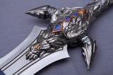 Spada di film di Cosplay della replica della spada di Anduin Lothar di distorsione di velocità