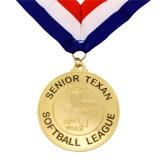 Medaglia di softball del ricordo dell'oro con il nastro