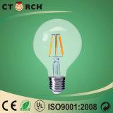 높은 루멘 필라멘트 램프 LED 전구 G80 8W