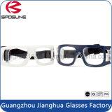 Della fabbrica anti delle graffiature del PC di pallacanestro degli occhiali di protezione bianchi all'ingrosso di goccia chiarezza altamente dei vetri di calcio dell'obiettivo di visione