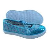 Новой ботинки детей Bling Bling способа вулканизированные холстиной