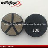 Velcro de D80mm que mueve hacia atrás la pista abrasiva en enlace de cerámica para el concreto