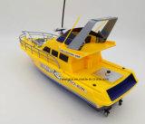 완벽한 백색 노란 장난감 모형 속도 RC 배를 달리기 위하여 준비하십시오