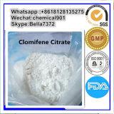 Anti-Hormona estrogénica citrato esteróide de Clomid da alta qualidade/Clomifene para o edifício do músculo