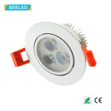 Blanco natural de Dimmable de la luz del punto de la alta calidad 3W LED Downlight Epistar