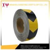 Nastro d'avvertimento riflettente di sicurezza della freccia del PVC, colore giallo/nero