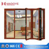 Складывая дверь Casement открытого типа алюминиевая стеклянная материальная
