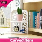 ホームのための机の多機能の角のプラスチック木の小さい棚