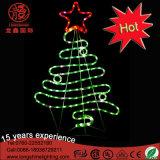 Indicatore luminoso decorativo di motivo dell'albero di Natale della stella della parte superiore del LED 2D per il Ce RoHS della decorazione di evento di festa