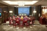 Grosse Größen-runder hölzerner Abendtisch