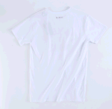 T-shirt 100% rond de collet de mode de coton,