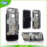 Cas de téléphone mobile personnalisé par hybride de clip ceinture de mode pour l'iPhone 6 positif, couvertures de cas de téléphone cellulaire