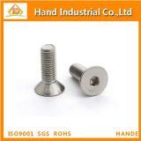 Tornillo principal de Csk del socket Hex del acero inoxidable M5 DIN7991