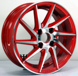 Rueda de aluminio de la aleación del coche de 15 pulgadas para todas las clases de marca de fábrica del coche