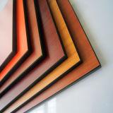 Panneau en aluminium décoratif du composé HPL de mur intérieur