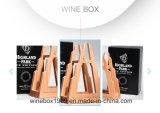 Boîte en bois en caoutchouc moderne à vin de forme d'iceberg de triangle de Storaging