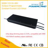 600W 17A 24~36V im Freien programmierbarer Dimmable konstanter Fahrer des Bargeld-LED