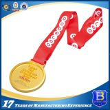 リボンが付いている高品質のカスタム賞の銀メダル