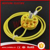 Verrouillage universel rond de câble 8 trous avec la boucle dans la couleur verte jaune rouge