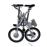 E-Bici plegable del acero de carbón de 18 pulgadas con la batería de litio 36V/8.8A