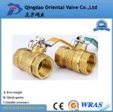 Media del petróleo y pulgada de cobre amarillo de la vávula de bola de la presión de la presión inferior 1-1/4
