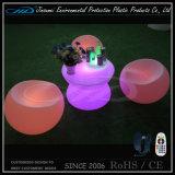 Modernes PET materieller im Freien LED Möbel-Kaffeetisch