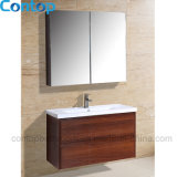 Moderner festes Holz-Badezimmer-Hauptschrank 035
