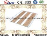 Soffitto di legno del PVC del comitato della laminazione di plastica dei materiali da costruzione, comitato di parete decorativo
