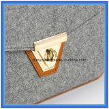シンプルな設計はウールによって感じられた偶然のメッセンジャー袋、調節可能なPUの革ベルトが付いている熱い昇進のショッピング戦闘状況表示板のハンド・バッグをカスタマイズした