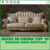 Sofà sezionale domestico classico del cuoio genuino della mobilia