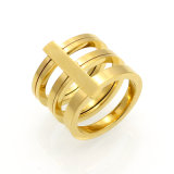 316L Trinity Jewelry IP Plating 18k Gold Ring