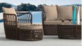 تصميم جديدة رخيصة خارجيّ [رتّن] فناء أثاث لازم [سنغل&دووبل&تريبل] ثبت أريكة مع [أتّومن] & جانب طاولة ([يت1055])