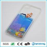Netter sich hin- und herbewegender Schwimmen-flüssiger Gummiwasser-Kasten für iPhone 6 7 Plus