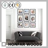 Bâti en bois de photo d'illustration de type japonais pour la décoration de salon