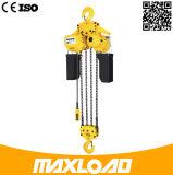 10t que levanta el alzamiento de cadena eléctrico con el gancho de leva